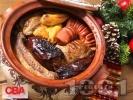 Рецепта Коледна капама със свинско, пиле и наденица